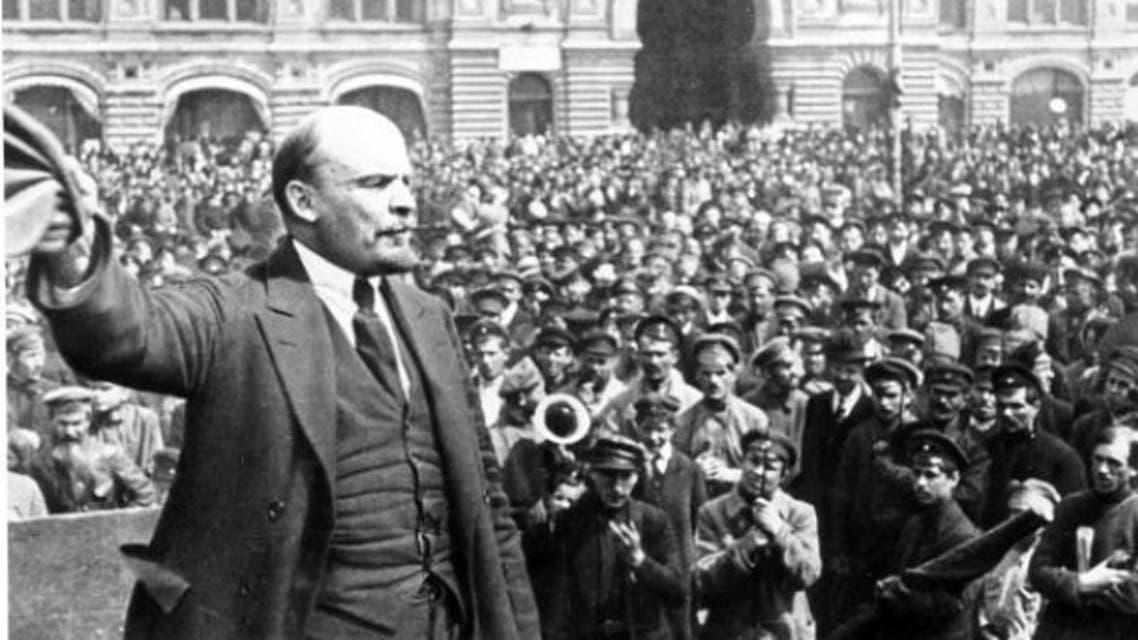 لينين اثناء فترة الثورة بروسيا