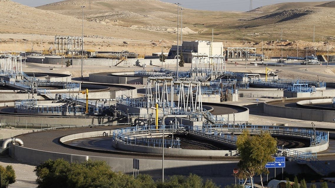 A general view shows the Samra Waste Water Treatment Plant in Zarqa on March 13, 2018. (Ahmad Abdo/AFP)
