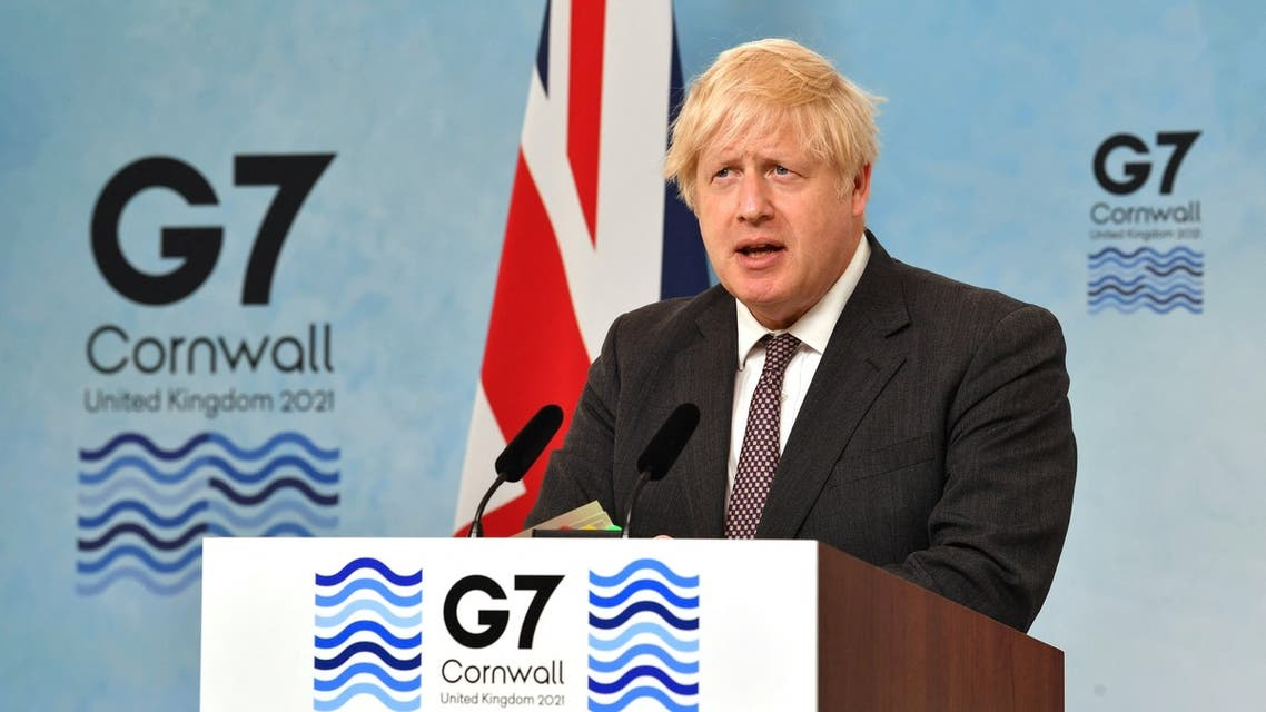 Britain's Prime Minister Boris Johnson takes part in a press conference on the final day of the G7 summit in Carbis Bay, Cornwall on June 13, 2021. (File photo: AFP)