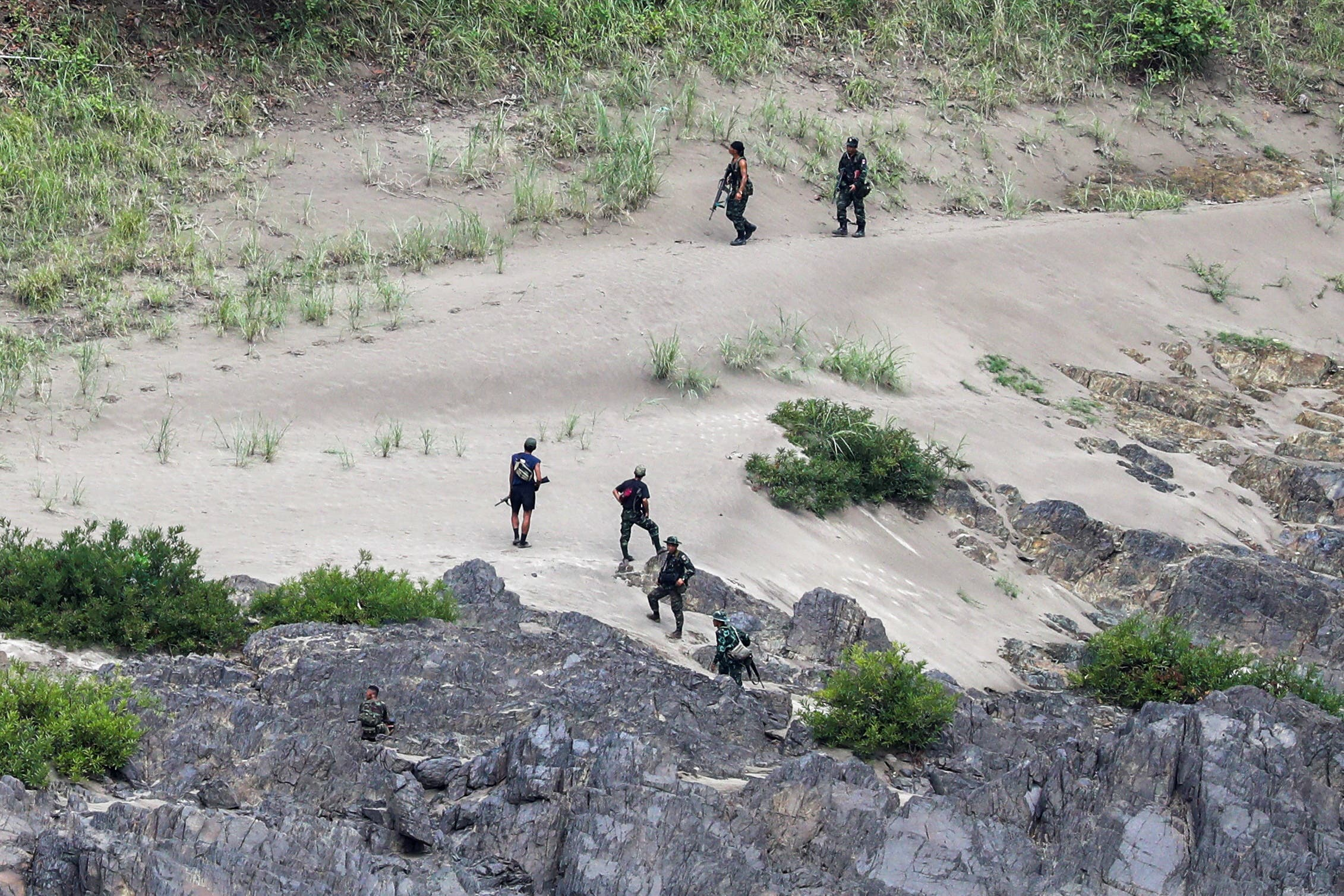 """An armed ethnic group of the """"Karen"""" minority attacked an army post near the border with Thailand in April last year (archive)"""