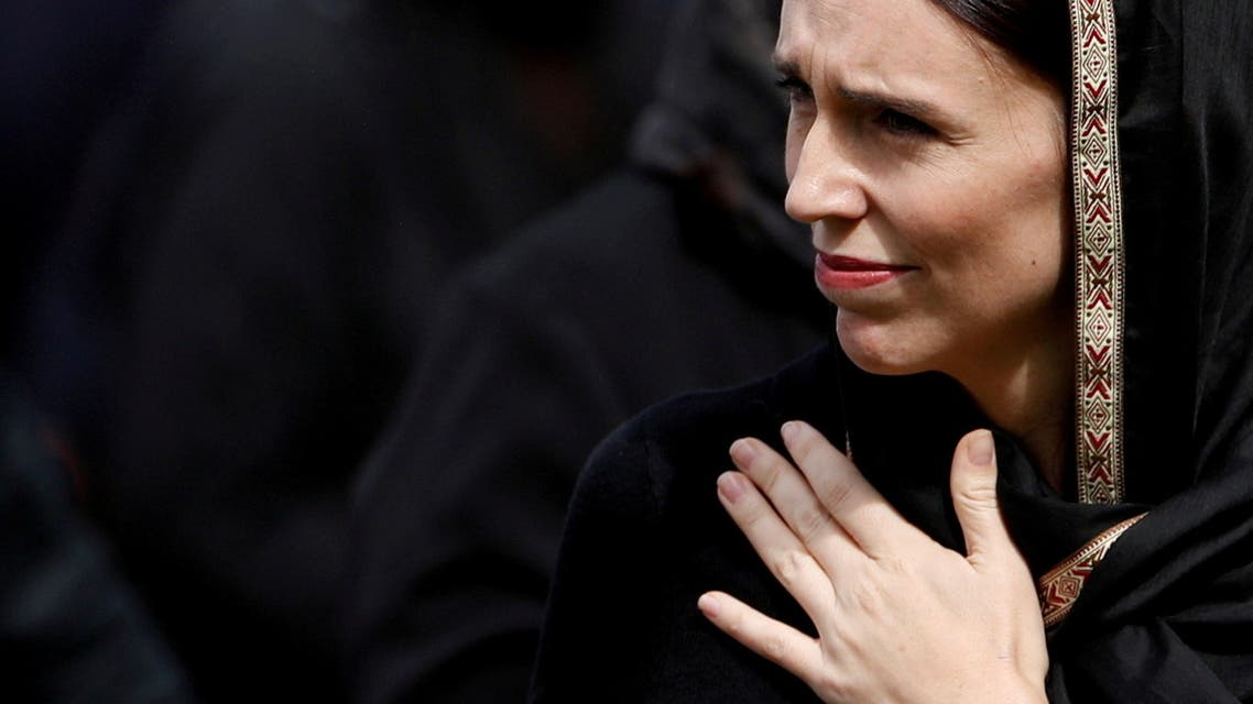 New Zealand's Prime Minister Jacinda Ardern leaves after Friday prayers at Hagley Park outside Al-Noor mosque in Christchurch, New Zealand March 22, 2019. (Reuters)