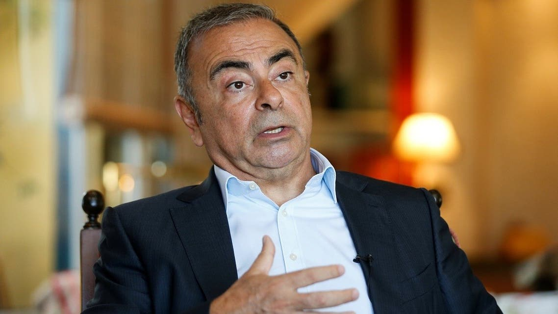 Former car executive Carlos Ghosn, gestures as he talks during an interview with Reuters in Beirut, Lebanon, on June 14, 2021. (Reuters)