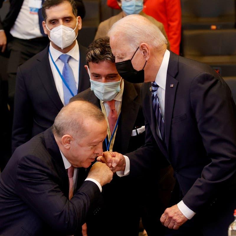 ملفات عالقة بينهما.. ولا حلول طرحت بلقاء بايدن -أردوغان