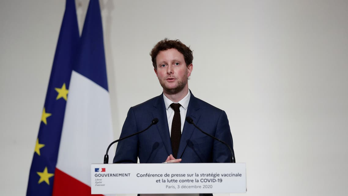FILE PHOTO: French Junior Minister for European Affairs Clement Beaune speaks during a press conference to outline France's strategy for the deployment of future COVID-19 vaccines, in Paris as the coronavirus disease outbreak continues in France, December 3, 2020. (File Photo: Reuters)