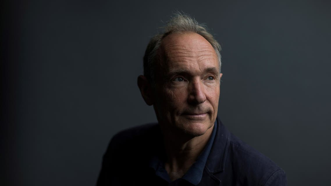 World Wide Web founder Tim Berners-Lee poses for a photograph following a speech at the Mozilla Festival 2018 in London, Britain October 27, 2018. Picture taken October 27, 2018. REUTERS/Simon Dawson/File Photo