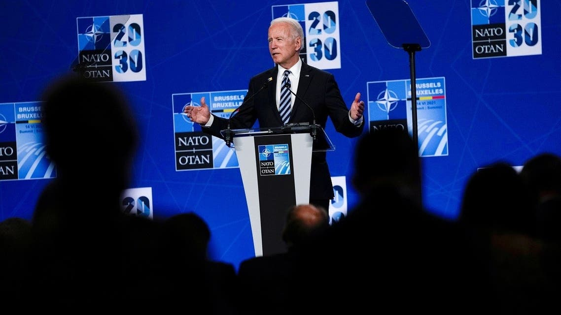President Joe Biden holds a news conference during a NATO summit in Brussels, Belgium June 14, 2021. (Reuters)
