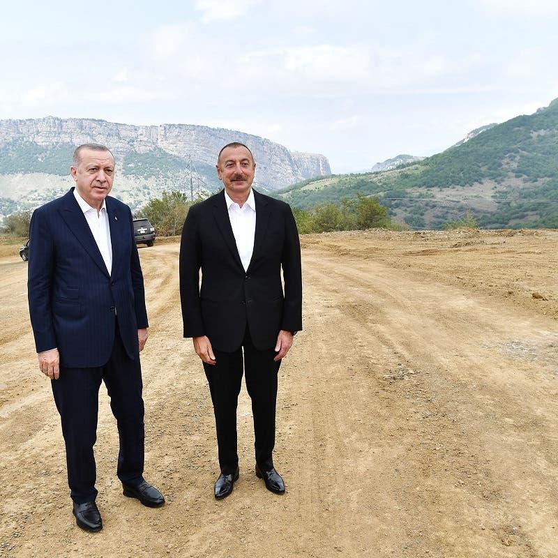 Turkey's Erdogan visits symbolic Nagorno-Karabakh town