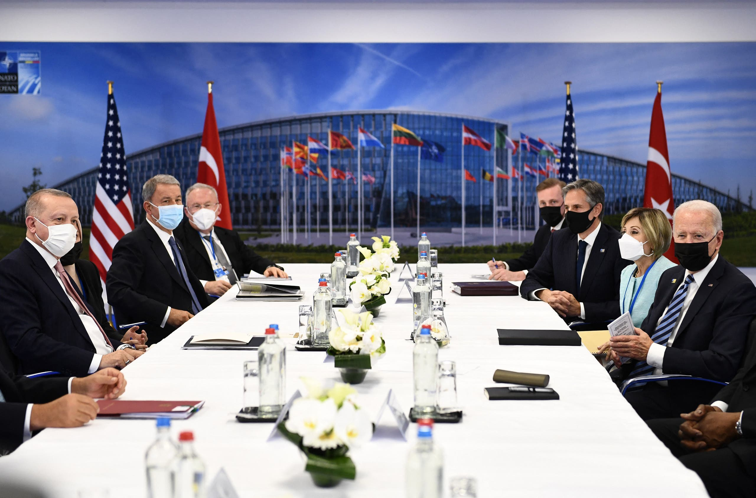 Files are stuck in between.  No solutions were proposed at the Biden Erdogan meeting