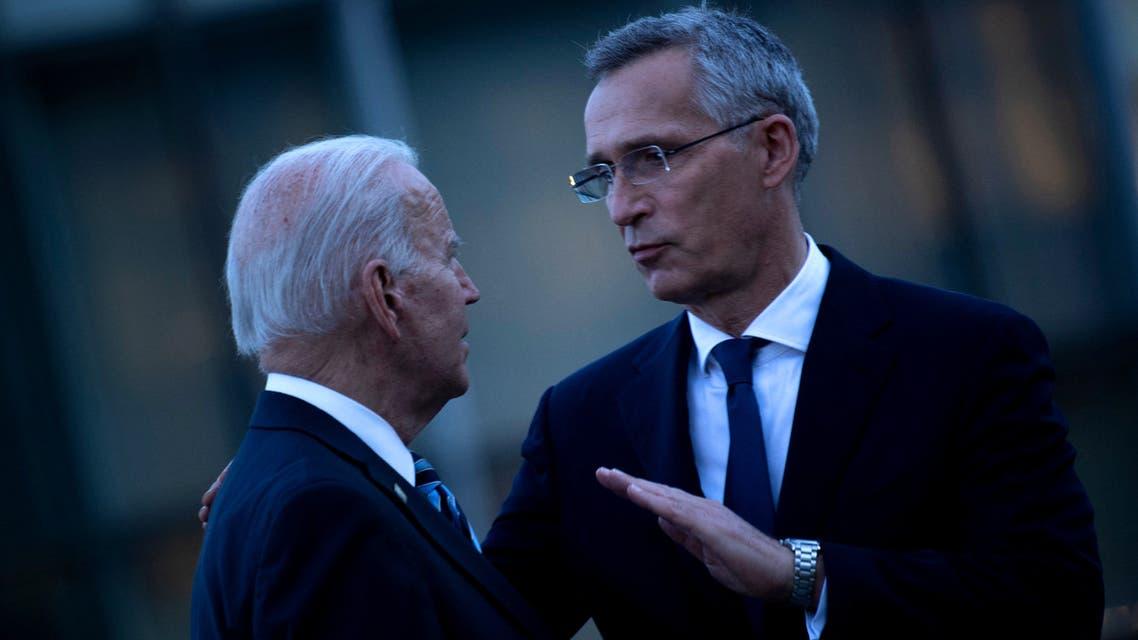 الأمين العام لحلف الناتو والرئيس الأميركي (أرشيفية- فرانس برس)