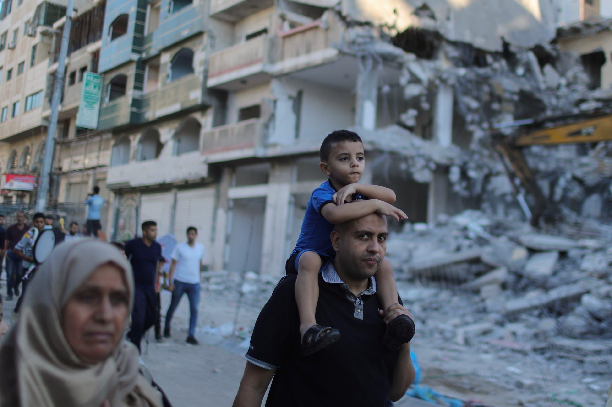 آثار القصف الإسرائيلي على غزة (أرشيفية من فرانس برس)