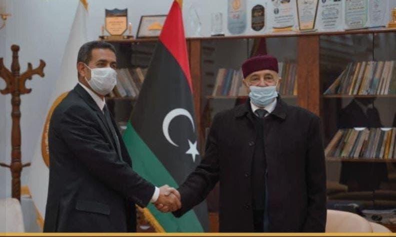 عقيلة صالح ورئيس مفوضية الانتخابات