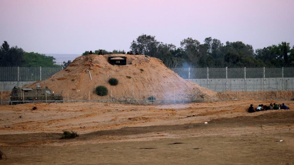 من السياج الحدودي عند قطاع غزة - فرانس برس