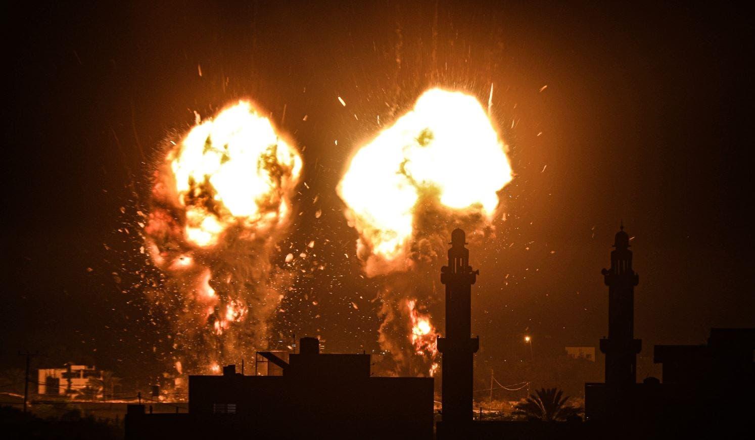 قصف سابق على غزة