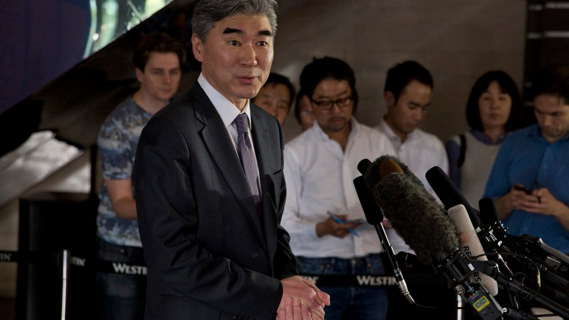 Sung Kim, the U.S. government's top envoy for North Korea, speaks to journalists at a hotel in Beijing, April 21, 2016. (File photo: AP)