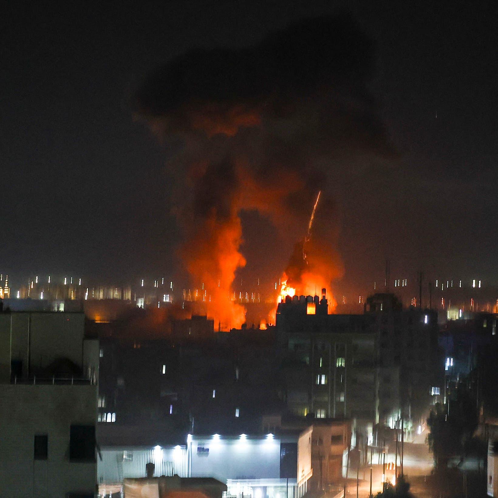 غارات إسرائيلية مكثفة على مراكز عسكرية وتدريبية لحماس في غزة