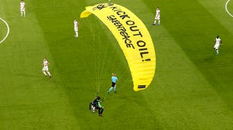 Protester parachutes into stadium ahead of France-Germany match at Euro 2020