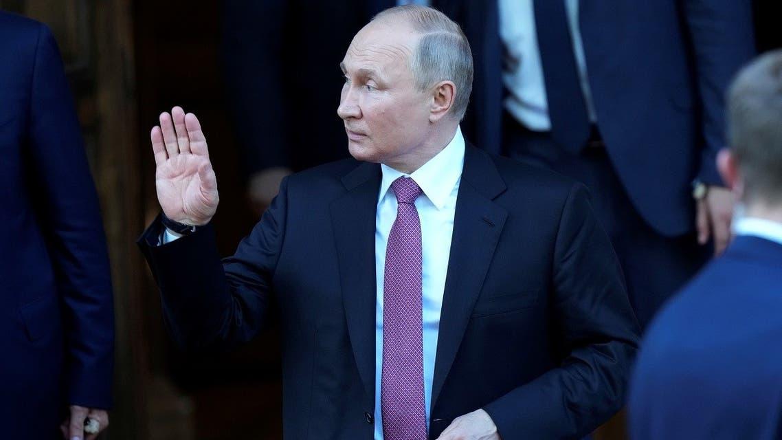 Russian President Vladimir Putin leaves Villa La Grange after his meeting with U.S President Joe Biden in Geneva, Switzerland June 16, 2021. (Reuters)