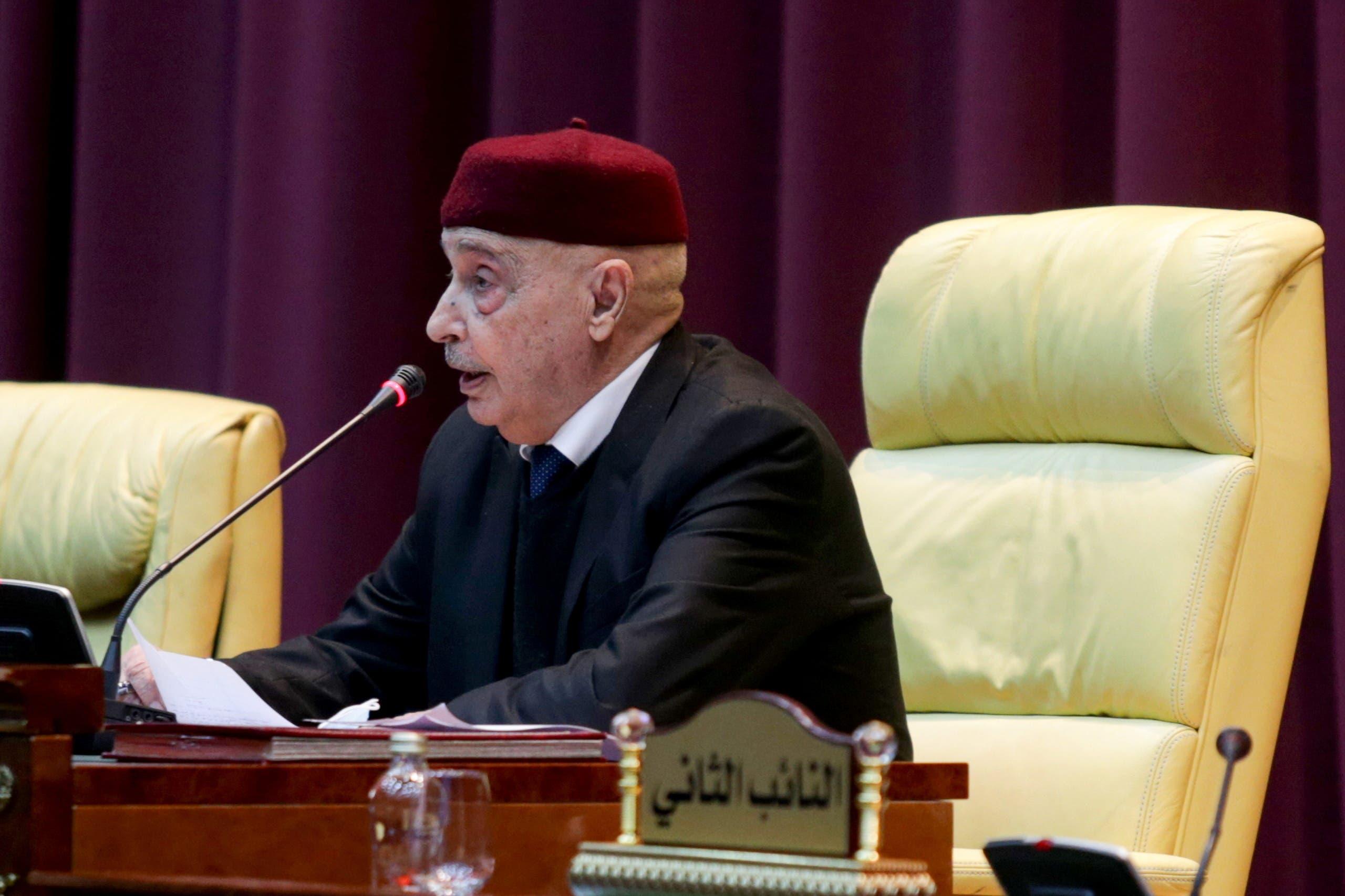 رئيس البرلمان الليبي عقيلة صالح (أرشيفية)