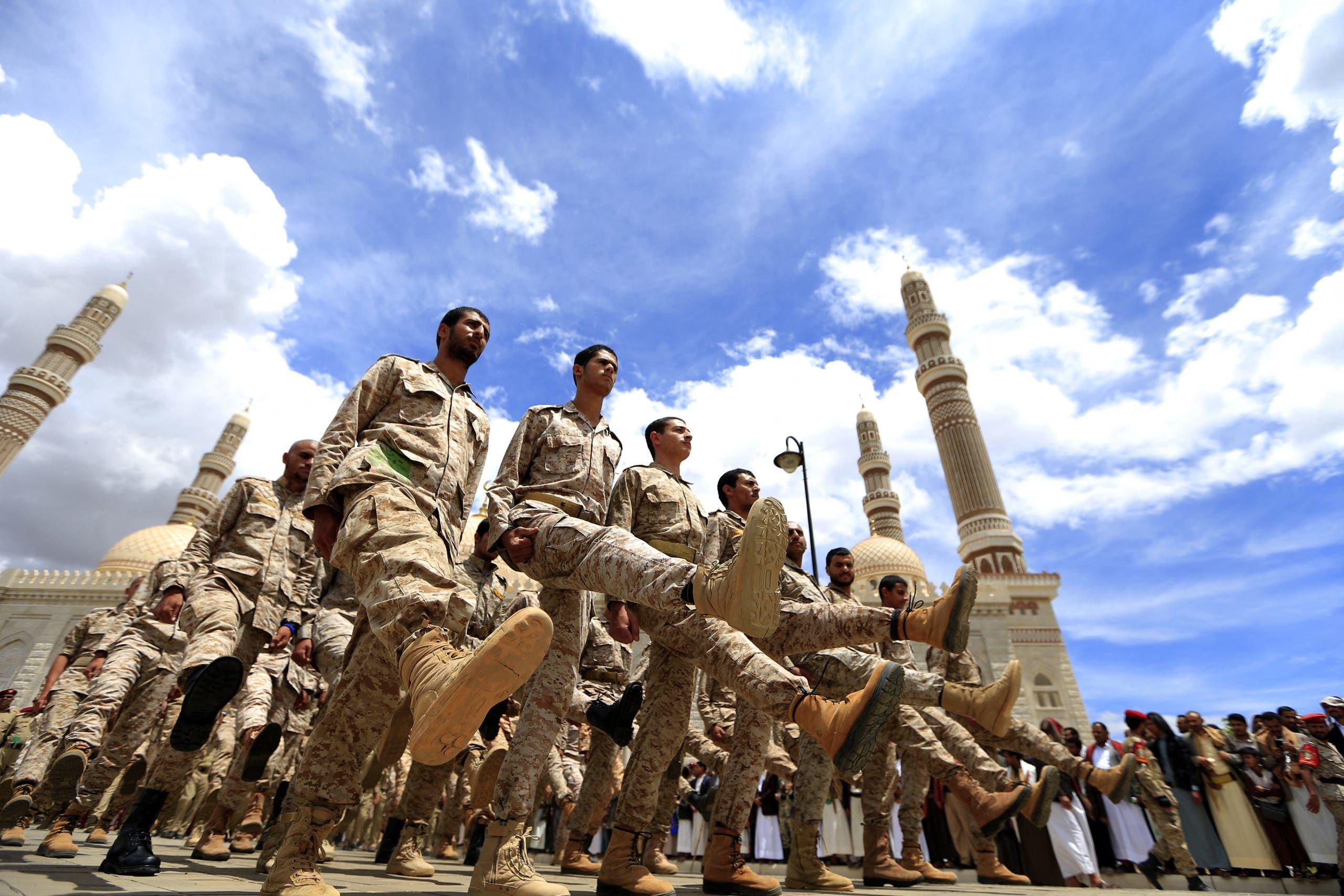 مقاتلون حوثيون في صنعاء (أرشيفية)