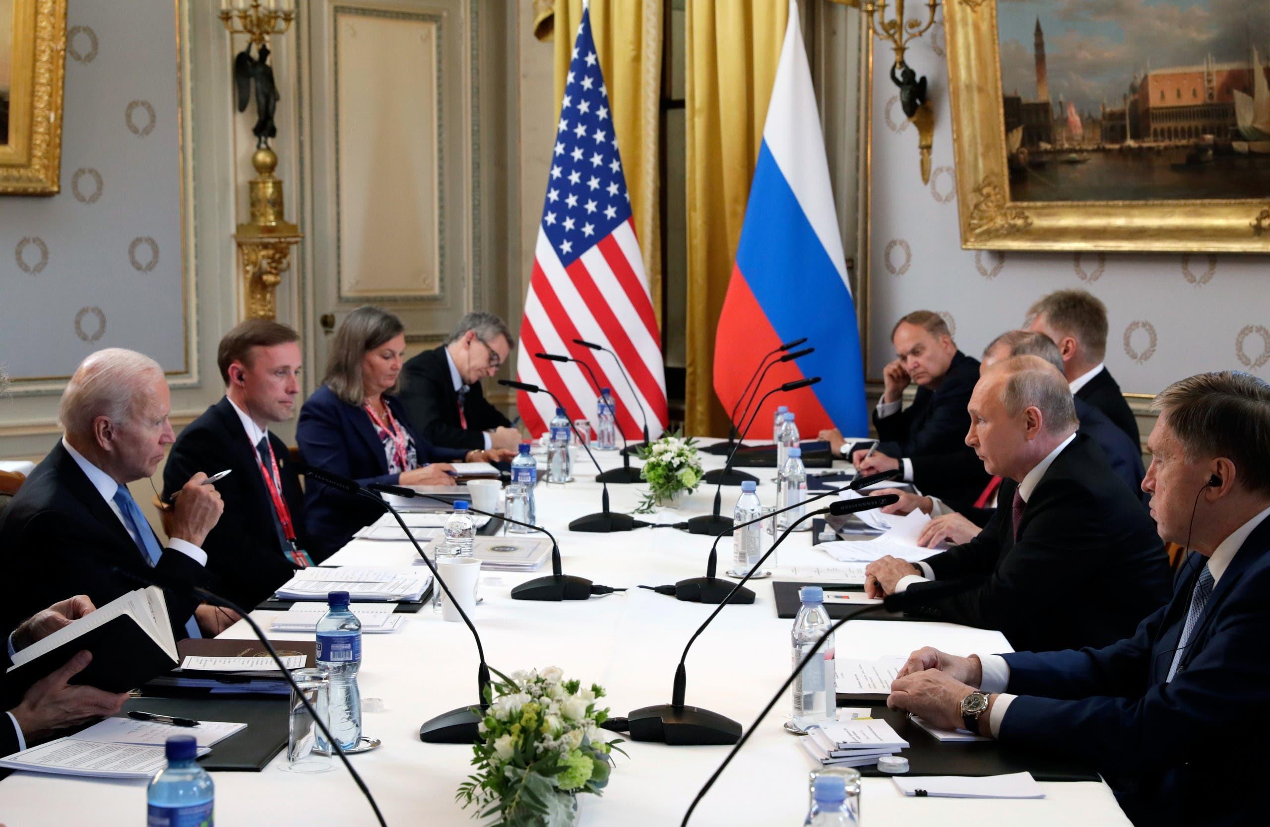 From the Biden and Putin summit yesterday in Geneva