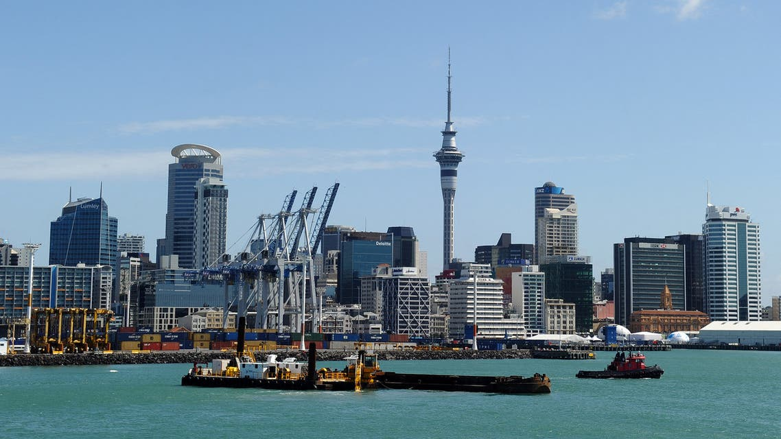 A general view of the city centre skyline of Auckland in New Zealand is seen in this photograph taken on October 20, 2011 from a ferry boat in Auckland Harbour. (AFP)