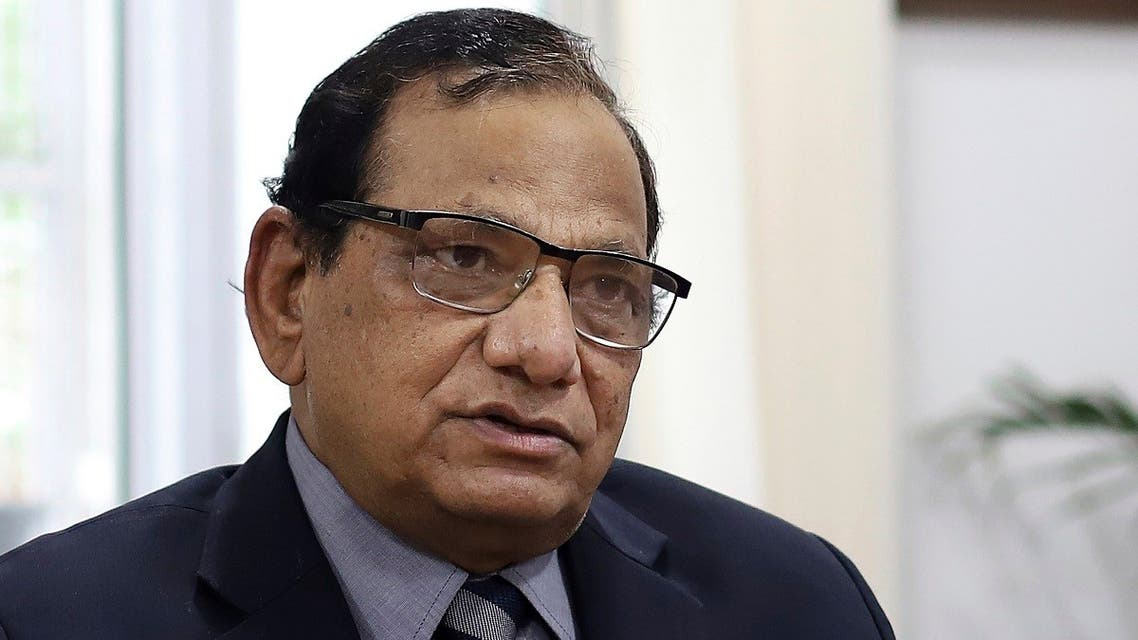 Dr. V.K. Paul, the head of India's COVID-19 task force, speaks to the Associated Press during an interview in New Delhi, India, on, June 18, 2021. (AP)