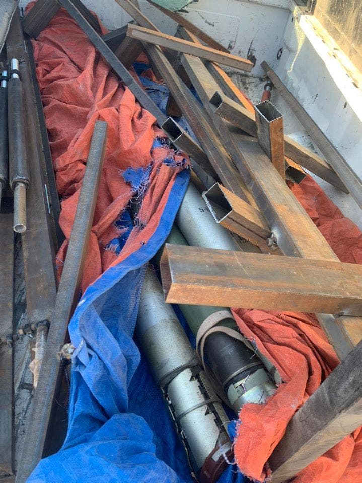 الصواريخ التي تم ضبطها في نينوى