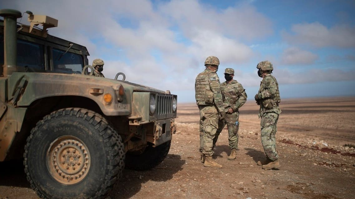 US military forces take part in a large scale drill as part of the African Lion military exercise, in Tantan, south of Agadir, Morocco, on June 18, 2021. (AP)