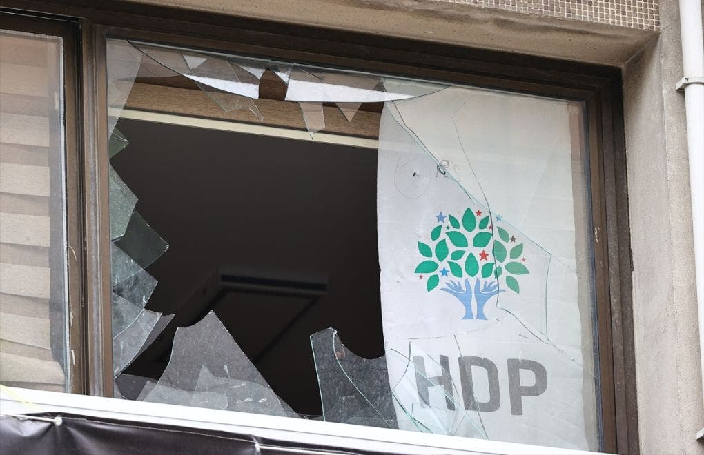 Damage to the HDP headquarters in Izmir after attack on Thursday