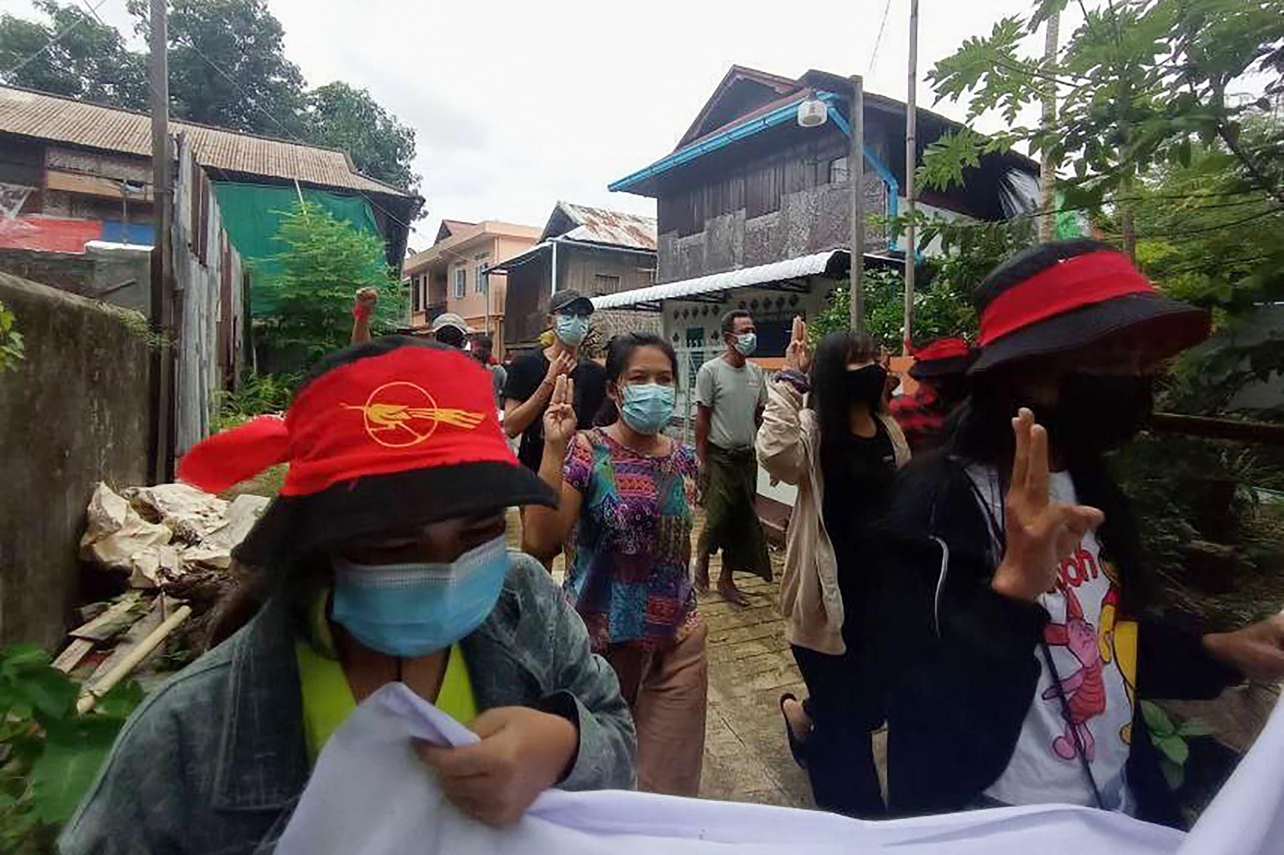 مظاهرة ضد الانقلاب الأسبوع الماضي في داوي