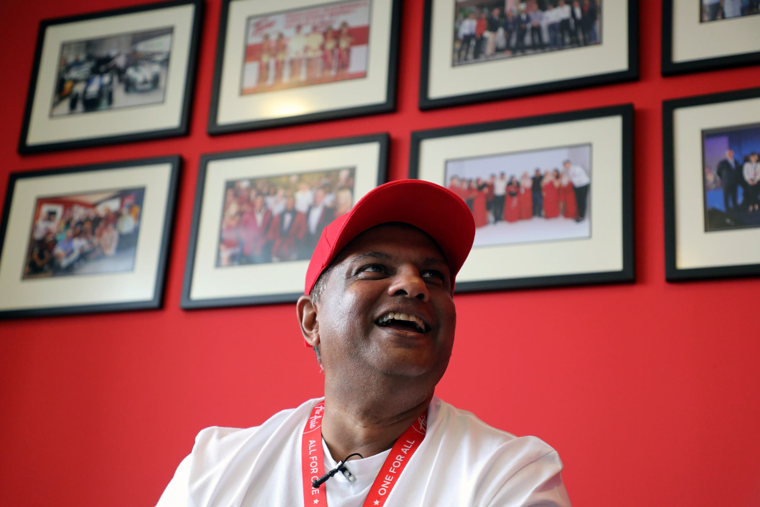 AirAsia Group CEO Tony Fernandes reacts during an interview in Kuala Lumpur, Malaysia October 8, 2020. (File photo: Reuters)