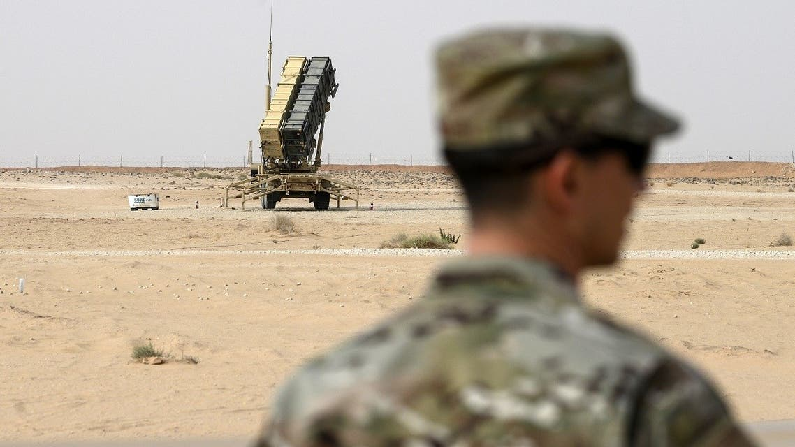 A member of the US Airforce looks on near a Patriot missile battery at the Prince Sultan air base in Al-Kharj, Saudi Arabia. (File Photo: AFP)