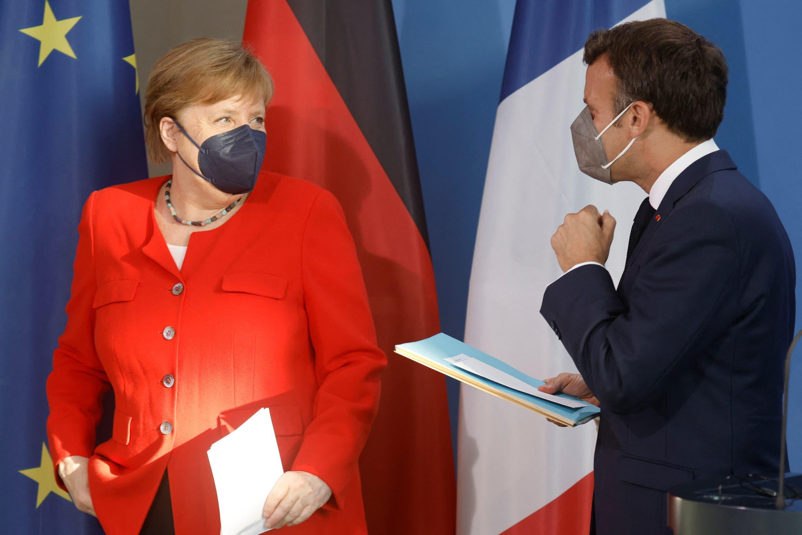 Macron and Merkel (archive)