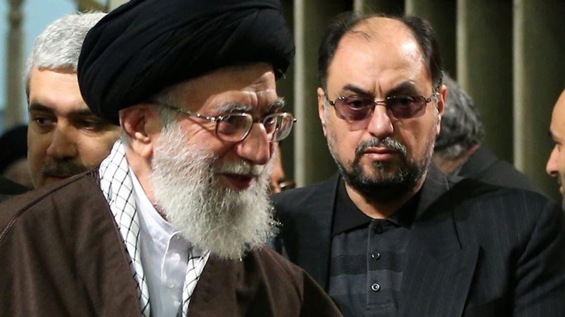 وحید حقانیان در کنار علی خامنهای