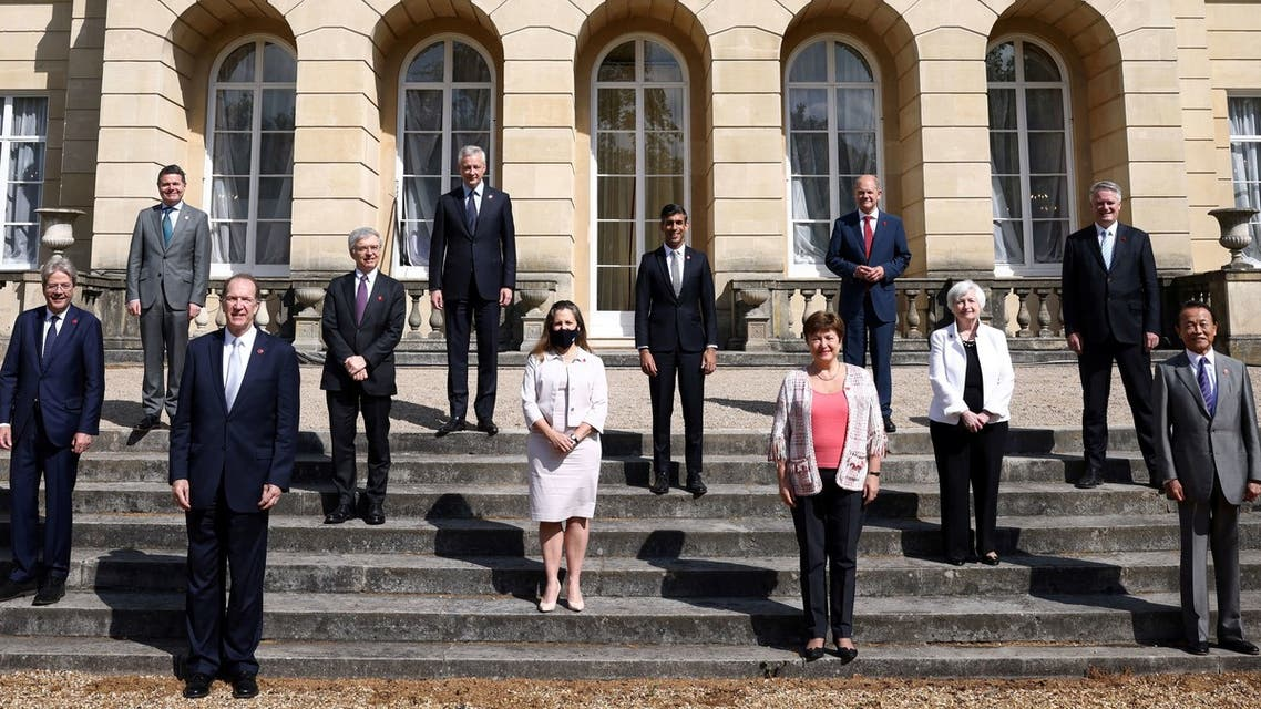 G7 Finance Ministers pose for a photo at Lancaster House in London on June 5, 2021. (File photo: AFP)