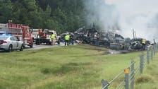 Nine children among 10 people killed in fiery multi-vehicle crash in US