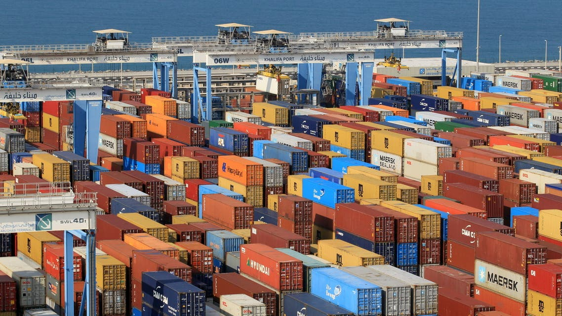 Containers are seen at Abu Dhabi's Khalifa Port after it was expanded in Abu Dhabi, UAE, December 11, 2019. (File Photo: Reuters)