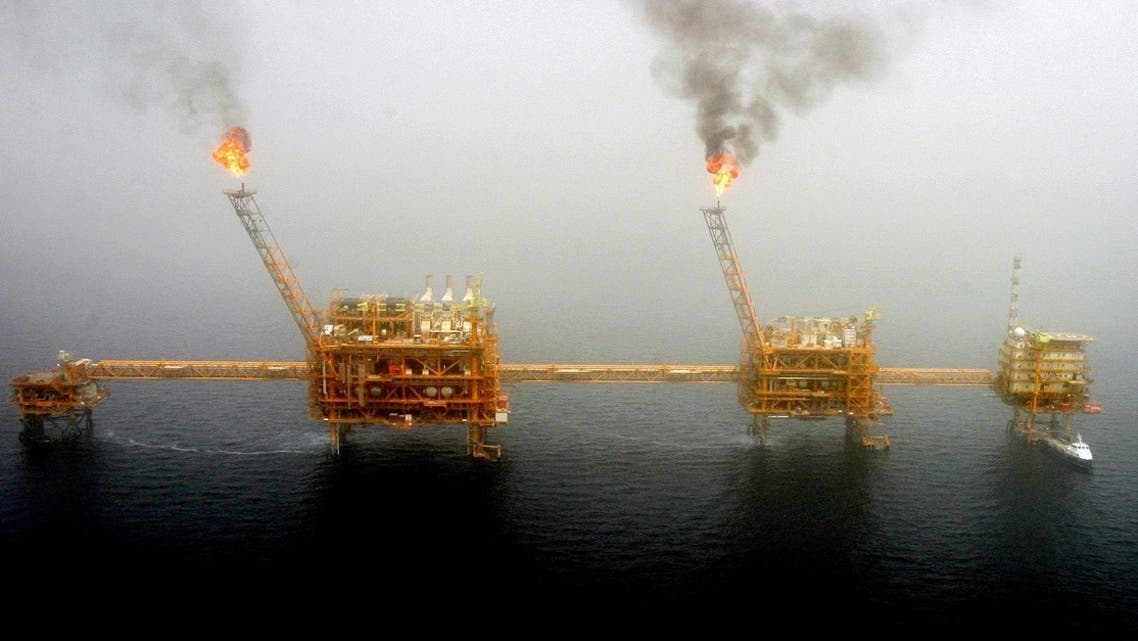 Gas flares from an oil production platform at the Soroush oil fields in the Gulf, south of the capital Tehran. (File photo: Reuters)