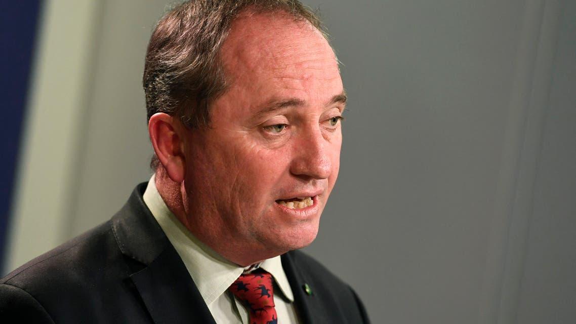 Australia's Deputy Prime Minister Barnaby Joyce addresses a press conference in Sydney on July 5, 2016.