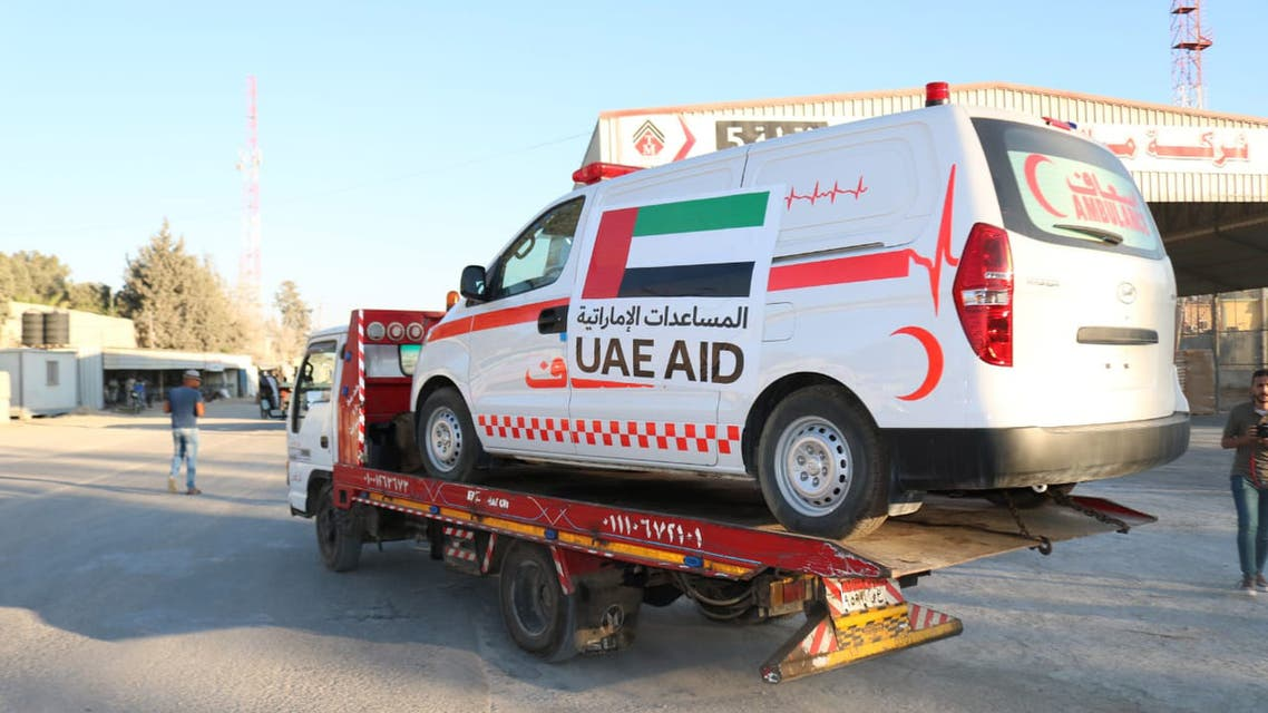 The United Arab Emirates on Monday sent 20 ambulances carrying essential emergency, security and safety equipment to the Gaza Strip through the Rafah Border Crossing. (WAM)