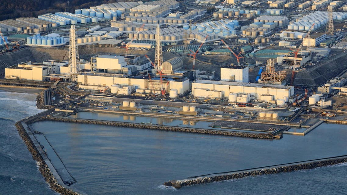 Fukushima Daiichi nuclear power plant in Okuma town, Fukushima prefecture is pictured after a strong earthquake shook northeastern Japan in this photo taken by Kyodo on February 14, 2021. (Reuters)