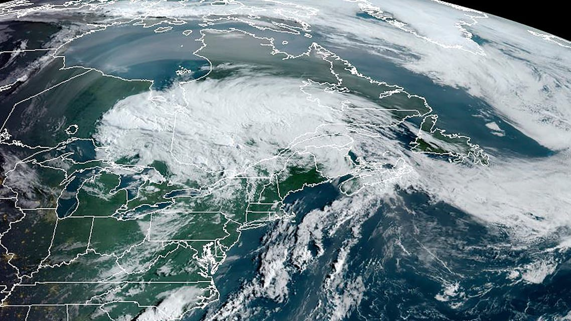 This RAMMB/NOAA satellite image obtained on August 5, 2020 at 12:00 UTC shows Tropical storm Isaias over the northeastern part of the US and southeastern Canada. (File photo: AFP)