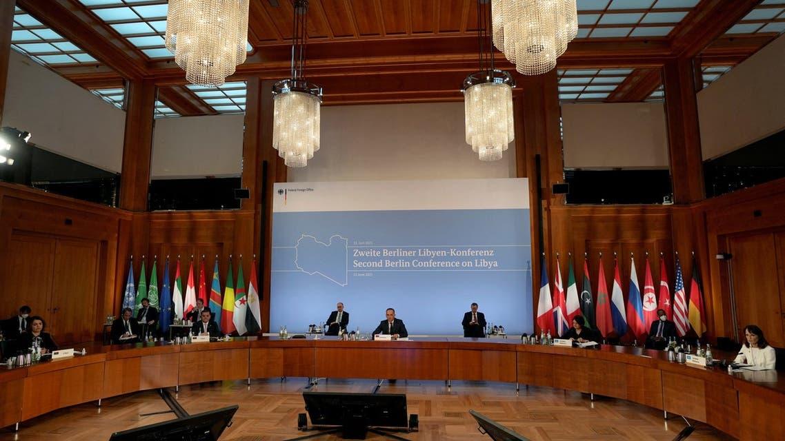 من مؤتمر برلين 2 حول ليبيا (أرشيفية- فرانس برس)