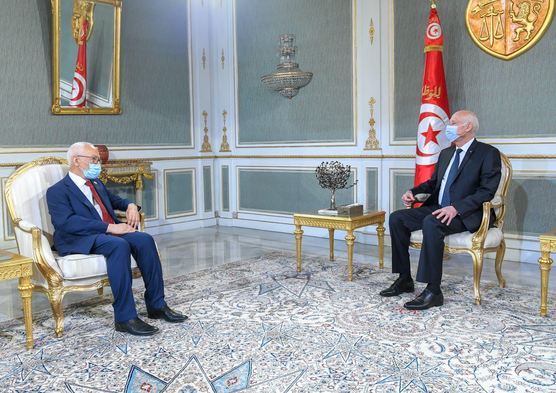 الرئيس التونسي والغنوشي
