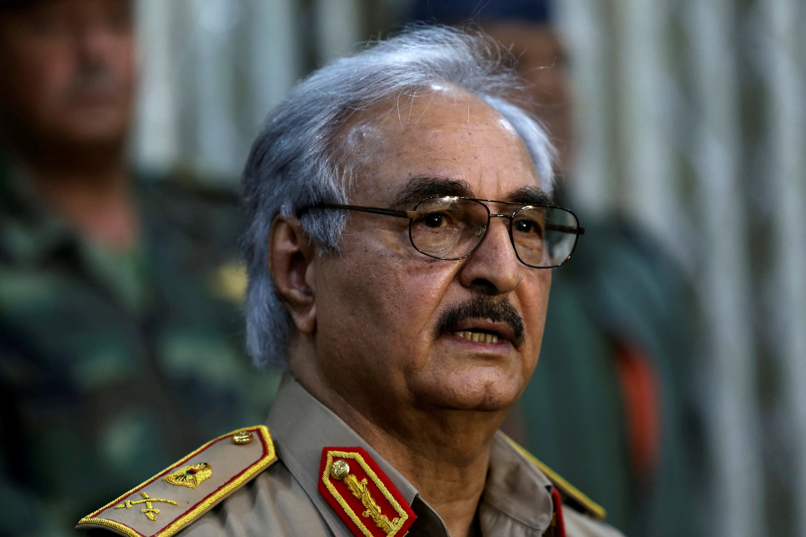 قائد الجيش الليبي خليفة حفتر (أرشيفية من رويترز)