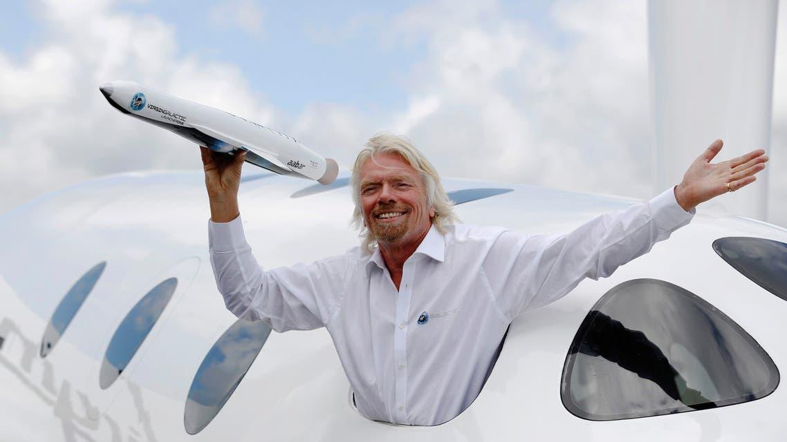 رجل الأعمال ريتشارد برانسون مؤسس Virgin Galactic