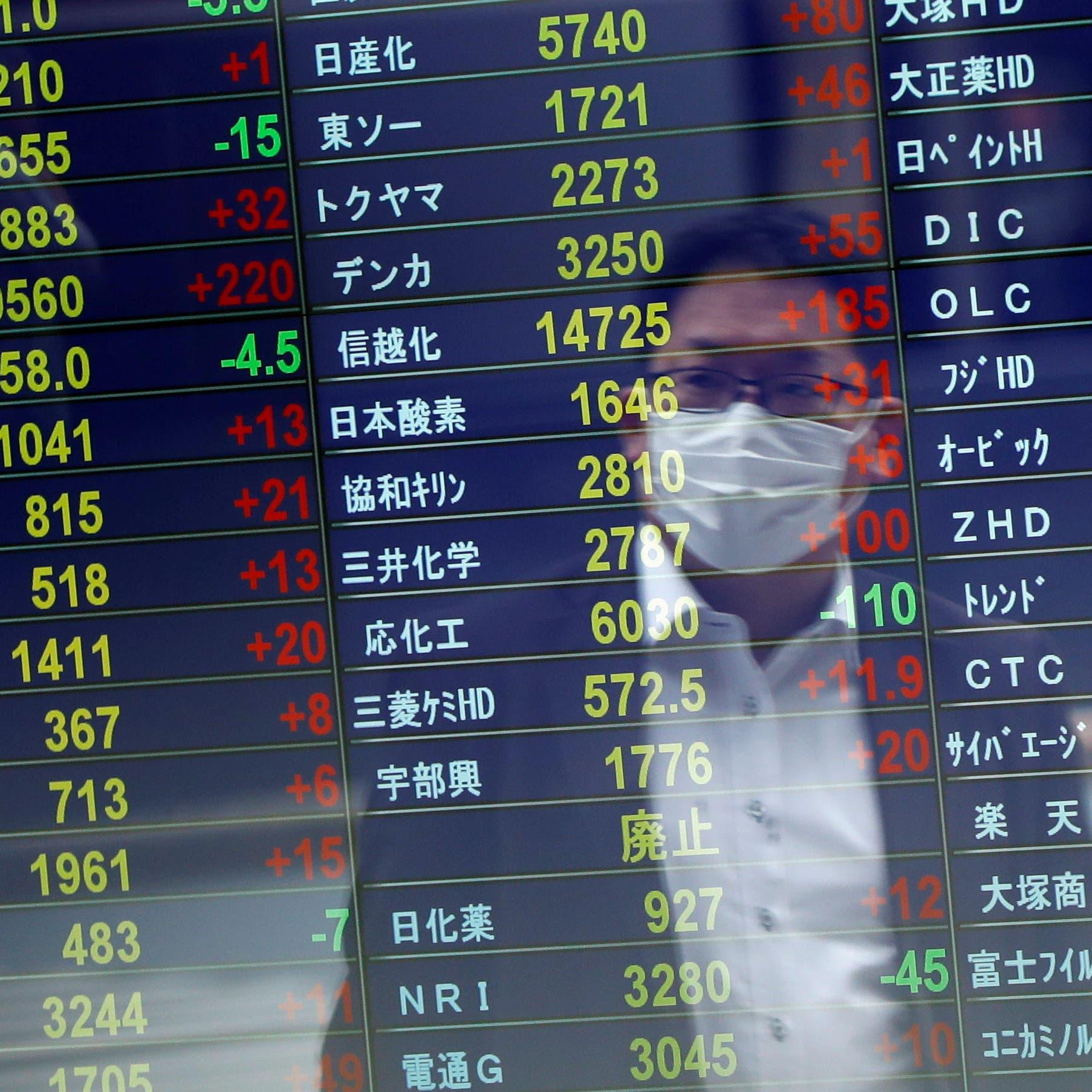 """أسهم اليابان تهبط للجلسة الرابعة على التوالي بسبب مخاوف """"دلتا"""""""