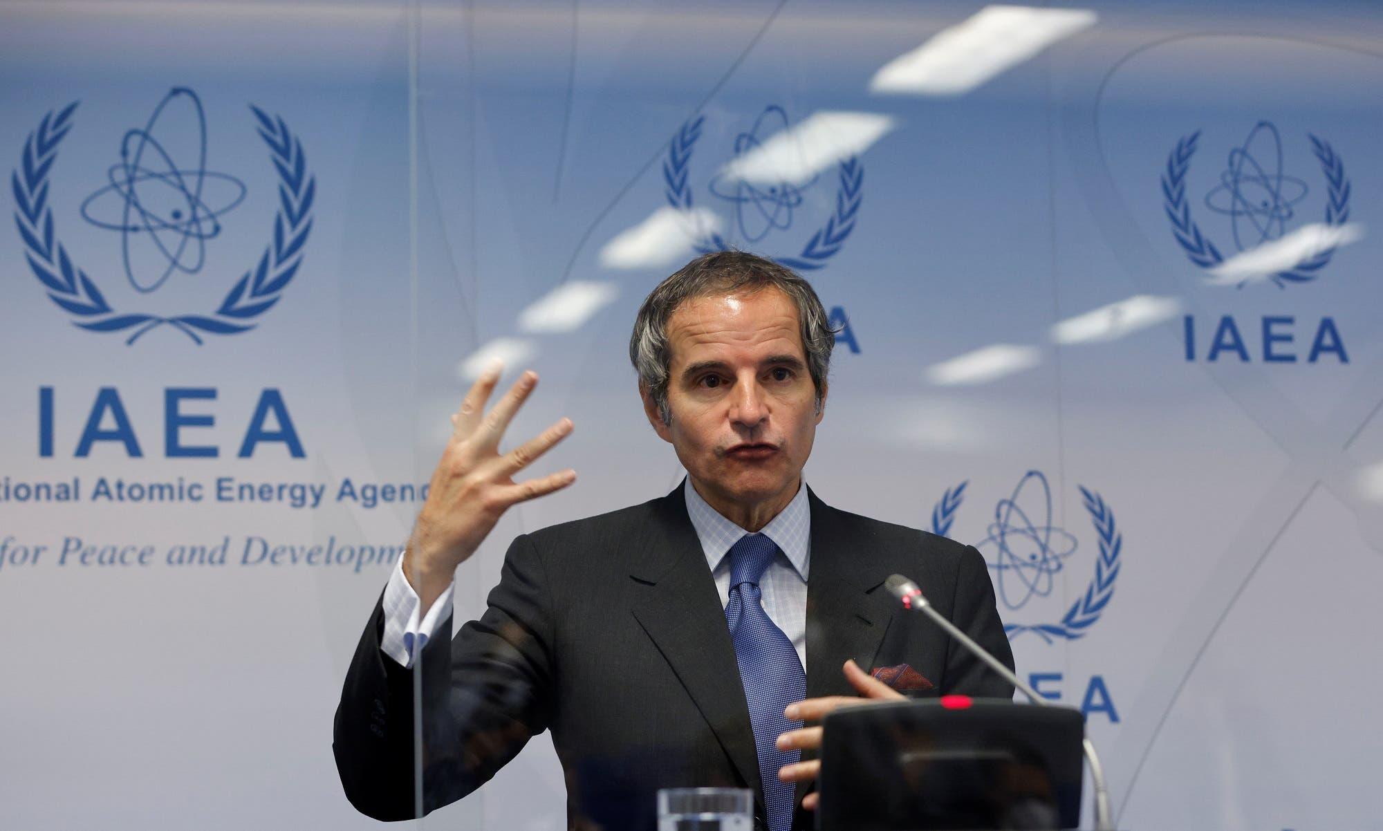 المدير العام للوكالة الدولية للطاقة الذرية رفائيل غروسي يتحدث في فيينا