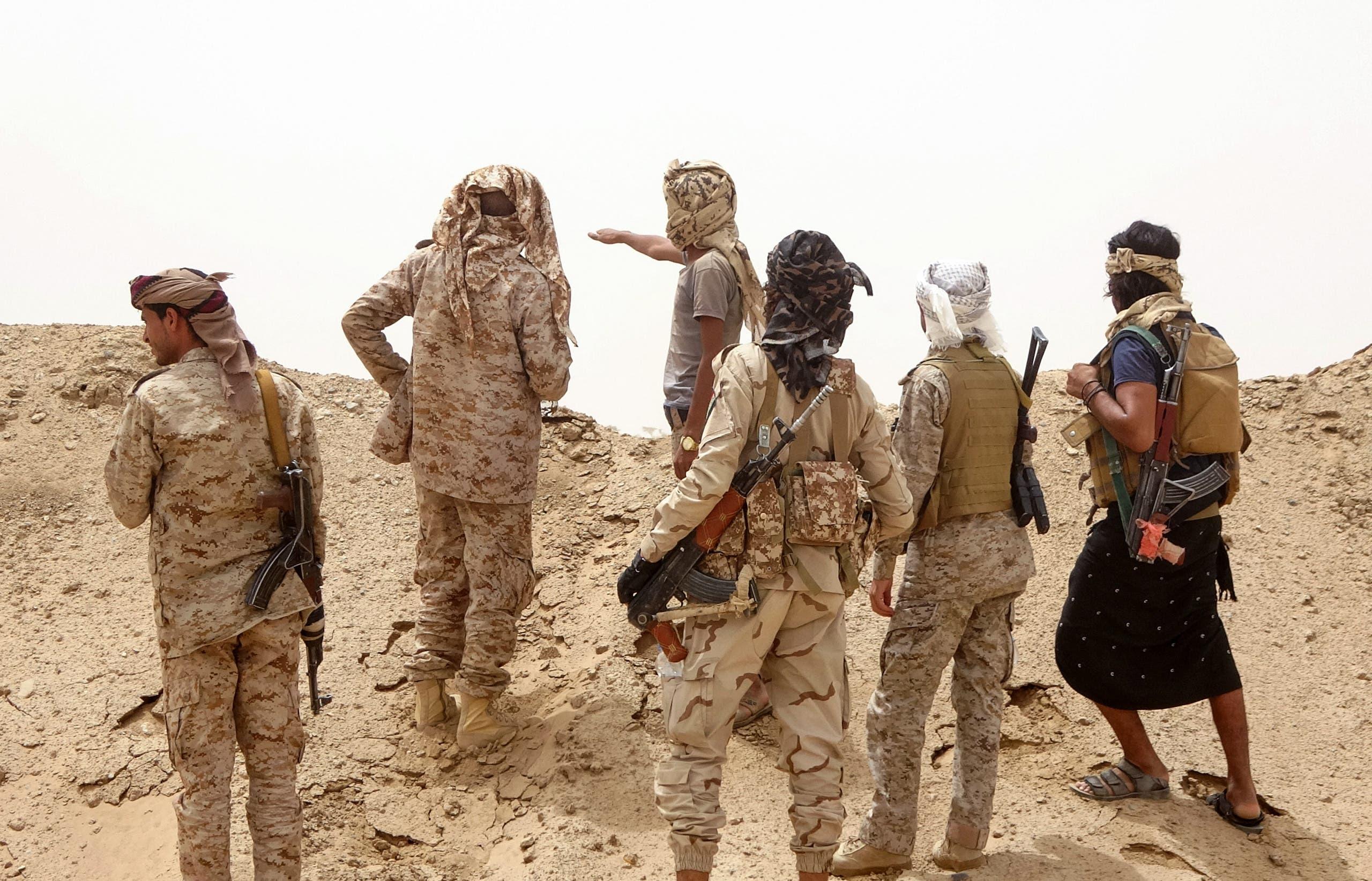 عناصر من الجيش اليمني في مأرب (أرشيفية من فرانس برس)