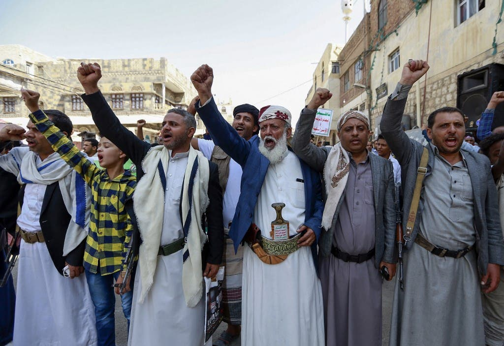 عناصر من ميليشيات الحوثي في صنعاء
